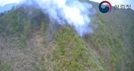 남부지방산림청, 울진군 매화면 갈면리 산불 진화 중
