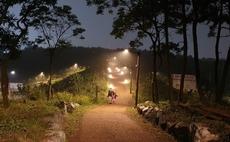 시흥 정왕동 곰솔누리숲 스마트보안등 설치.