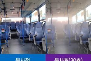 """여수시 """"시민안전 지킨다"""" 시내버스 코로나19 자동방역기 설치"""