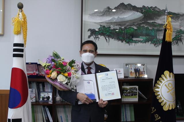 의정부시의회 오범구 의장,  2021 대한민국 가치경영 대상 수상